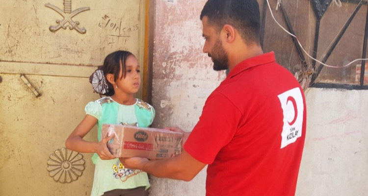 Barış Pınarı Harekatı Kapsamında Suriyeli İhtiyaç Sahibi Ailelere Yardımları Ulaştırıldı.